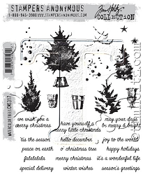 Stamper's Anonymous / Tim Holtz - Cling Mounted Rubber Stamp Set - Watercolor Trees