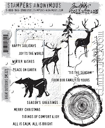 Stamper's Anonymous / Tim Holtz - Cling Mounted Rubber Stamp Set - Great Outdoors