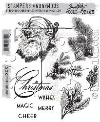 Stamper's Anonymous / Tim Holtz - Cling Mounted Rubber Stamp Set - Christmas Classic