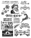 Tim Holtz-Cling Rubber Stamp Set-Mini Holidays