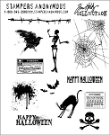 Tim Holtz-Cling Rubber Stamp Set-Mini Halloween