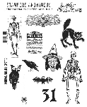 Tim Holtz-Cling Rubber Stamp Set-Mini Halloween 2