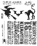 Tim Holtz-Cling Rubber Stamp Set-Halloween Silhouettes
