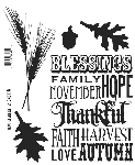 Tim Holtz-Cling Rubber Stamp Set-Thankful Silhouettes