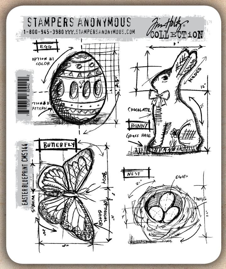 Easter Bunny Rubber Stamp Set