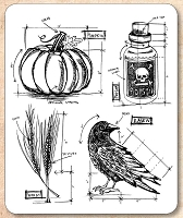 Stamper's Anonymous / Tim Holtz - Cling Mounted Rubber Stamp Set - Halloween Blueprint 2