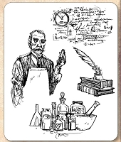 Stamper's Anonymous / Tim Holtz - Cling Mounted Rubber Stamp Set - The Chemist