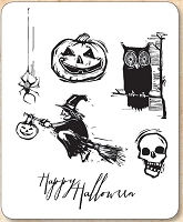 Stamper's Anonymous / Tim Holtz - Cling Mounted Rubber Stamp Set - Carved Halloween