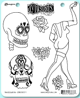Dylusions - Cling Rubber Stamps - Pin Up Queen