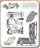 Tim Holtz Stamper's Anonymous Classics- Cling Rubber Stamp Set -  Classics # 7
