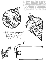 Tim Holtz Stamper's Anonymous Classics- Cling Rubber Stamp Set -  Classics # 10