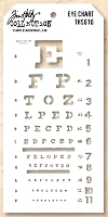 Stamper's Anonymous / Tim Holtz - Layering Stencil - Eye Chart