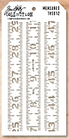 Stamper's Anonymous / Tim Holtz - Layering Stencil - Measured
