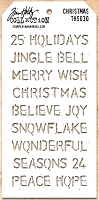 Stamper's Anonymous / Tim Holtz - Layering Stencil - Christmas