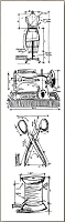 Stamper's Anonymous / Tim Holtz - Cling Mounted Rubber Stamp Set - Mini Blueprints Sewing