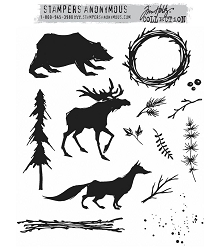 Stamper's Anonymous/Tim Holtz - Cling Mounted Rubber Stamp Set - Into The Woods