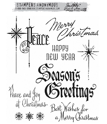 Stamper's Anonymous/Tim Holtz - Cling Mounted Rubber Stamp Set - Christmastime 2