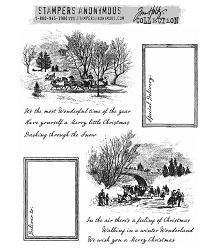 Stamper's Anonymous/Tim Holtz - Cling Mounted Rubber Stamp Set - Scenic Holiday