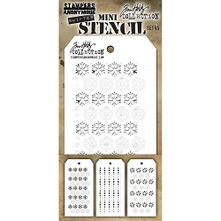 Stamper's Anonymous/Tim Holtz - Mini Layering Stencils - Set #45