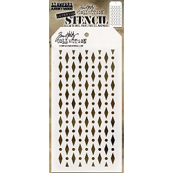 Stamper's Anonymous/Tim Holtz - Layering Stencil - Diamond Dot