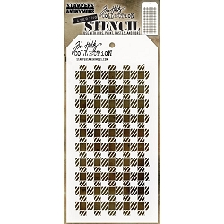 Stamper's Anonymou /Tim Holtz - Layering Stencil - Gingham