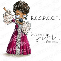 Stamping Bella - Cling Rubber Stamp - Oddball Aretha
