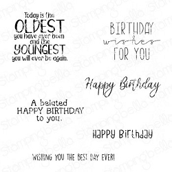 Stamping Bella - Cling Rubber Stamp - Happy Birthday To You Sentiment Set