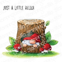 Stamping Bella - Cling Rubber Stamp - Gnome in a Tree