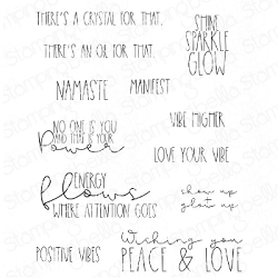 Stamping Bella - Cling Rubber Stamp - Good Vibes Sentiment Set