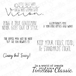 Stamping Bella - Cling Rubber Stamp - Timeless Classic Sentiment