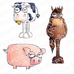 Stamping Bella - Cling Rubber Stamp - Oddball Farm Animals