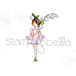 Stamping Bella - Cling Rubber Stamp - Tiny Townie Garden Girl Lily of the Valley