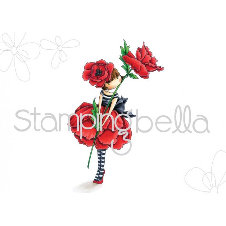 Rezultat iskanja slik za Stamping Bella Rubber Stamps - Garden Girl Poppy