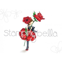 Stamping Bella - Cling Rubber Stamp - Tiny Townie Garden Girl Poppy