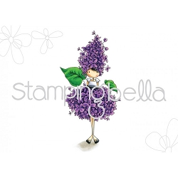 Stamping Bella - Cling Rubber Stamp - Tiny Townie Garden Girl Lilac