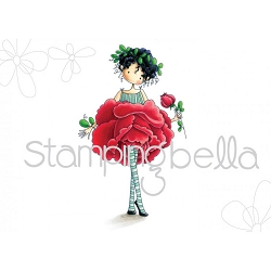 Stamping Bella - Cling Rubber Stamp - Tiny Townie Garden Girl Rose