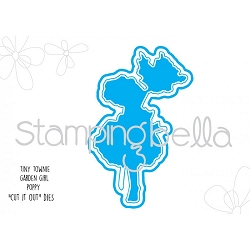 Stamping Bella - Cutting Dies - Tiny Townie Garden Girl Poppy CUT IT OUT die
