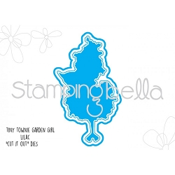 Stamping Bella - Cutting Dies - Tiny Townie Garden Girl Lilac CUT IT OUT die