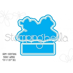 Stamping Bella - Cutting Dies - Happy Everything Bunny Wobble CUT IT OUT dies