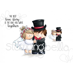 Stamping Bella - Cling Rubber Stamp - Love Story Squidgies