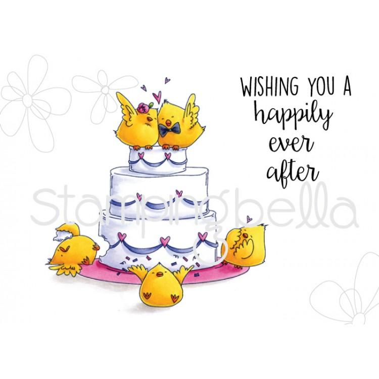 Wedding Rubber Stamping.Stamping Bella Cling Rubber Stamp Wedding Cake Chicks