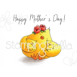 Stamping Bella - Cling Rubber Stamp - Mother's Day Chick