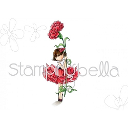 Stamping Bella - Cling Rubber Stamp - Tiny Townie Garden Girl Carnation
