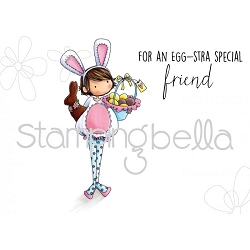 Stamping Bella - Cling Rubber Stamp - Tiny Townie Ella Loves Easter