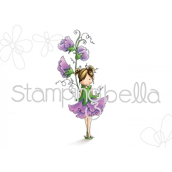 Stamping Bella - Cling Rubber Stamp - Tiny Townie Garden Girl Sweet Pea