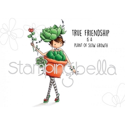 Stamping Bella - Cling Rubber Stamp - Tiny Townie Susie The Succulent