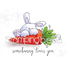 Stamping Bella - Cling Rubber Stamp - Somebunny Loves You