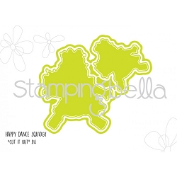 Stamping Bella - Cutting Dies - Happy Dance Squidgy CUT IT OUT dies