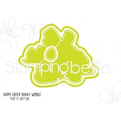 Stamping Bella - Cutting Dies - Hoppy Easter Bunny Wobble CUT IT OUT dies