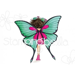 Stamping Bella - Cling Rubber Stamp - Tiny Townie Babette The Butterfly